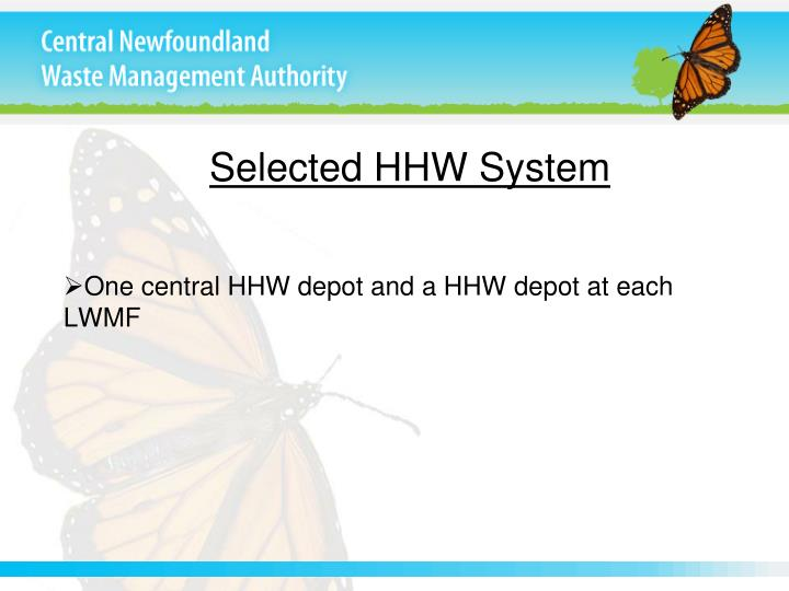 Selected HHW System