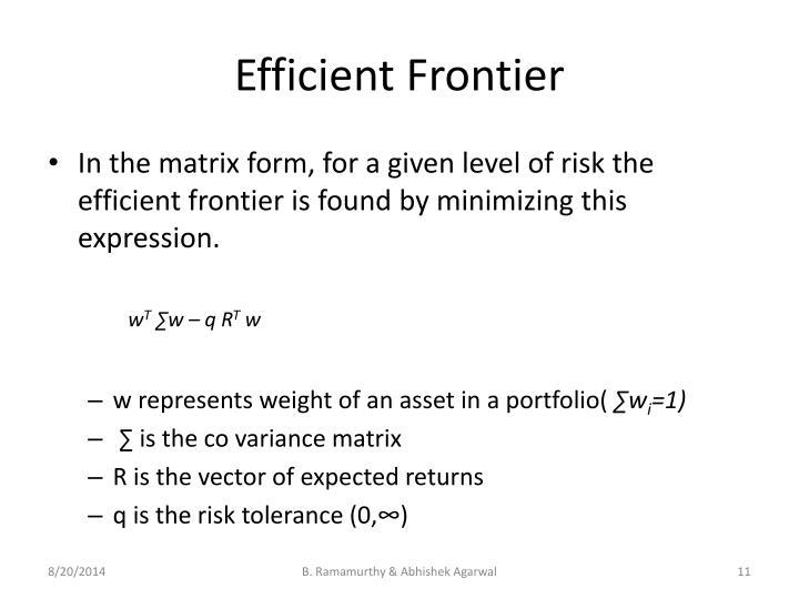 Efficient Frontier