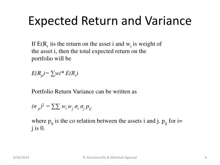 Expected Return and Variance