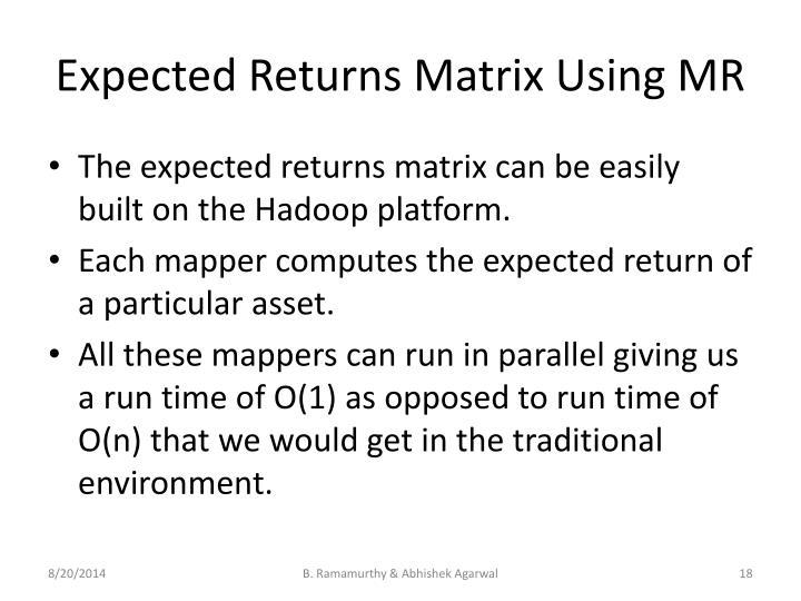 Expected Returns Matrix Using MR