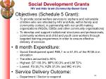 social development grants hiv and aids grant community based care