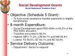 social development grants social assistance transfers grant
