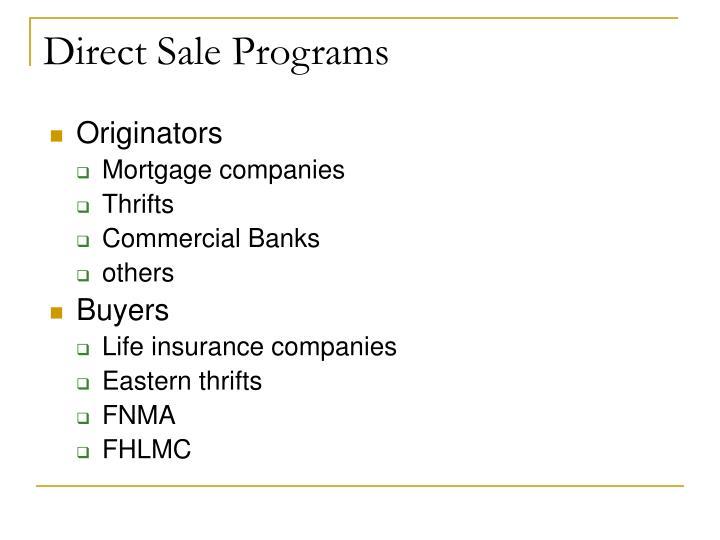Direct Sale Programs