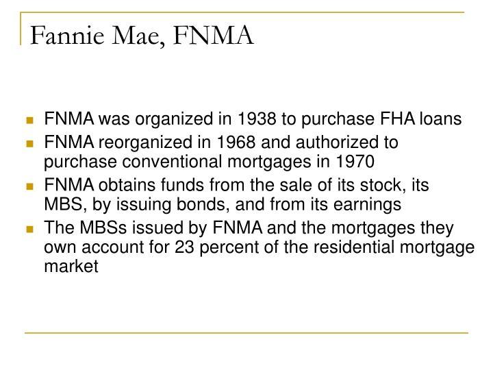 Fannie Mae, FNMA