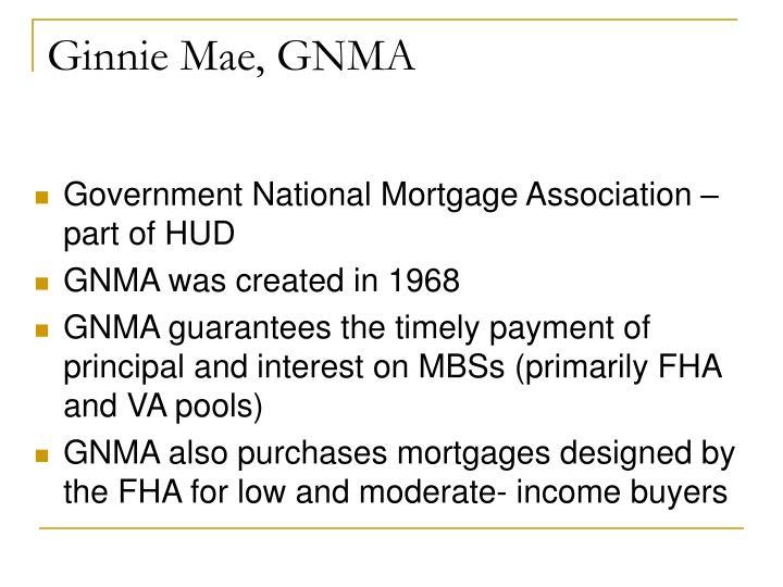 Ginnie Mae, GNMA