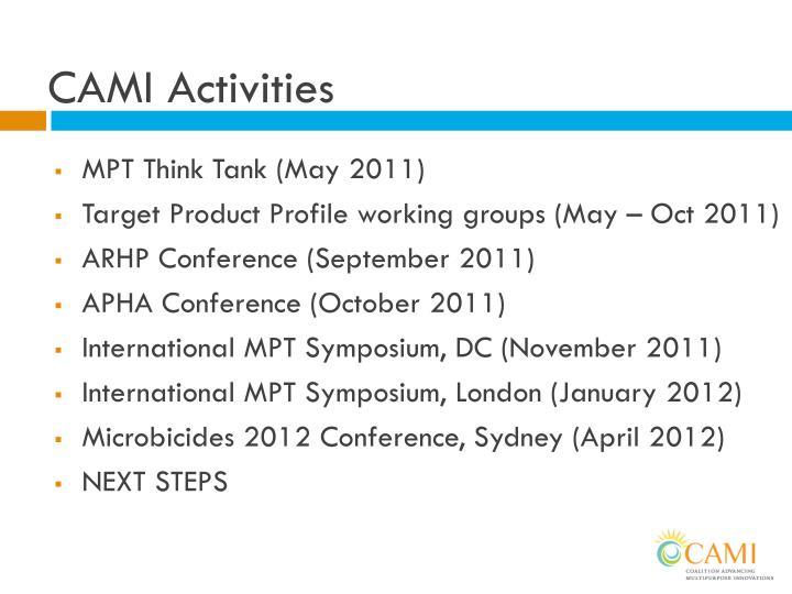 CAMI Activities