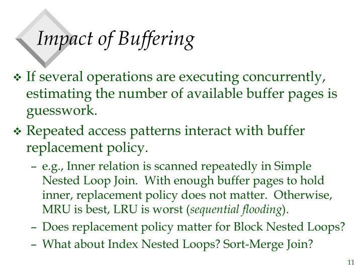 Impact of Buffering