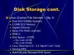 disk storage cont