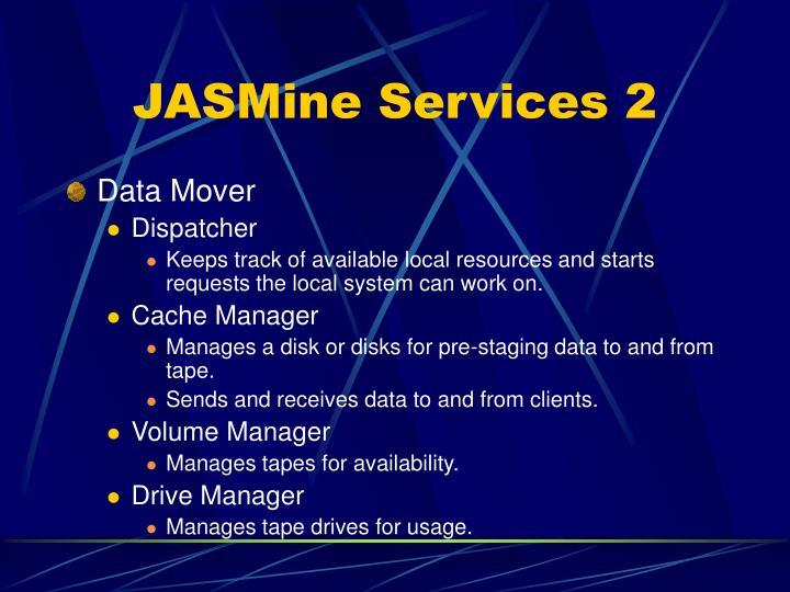 JASMine Services 2