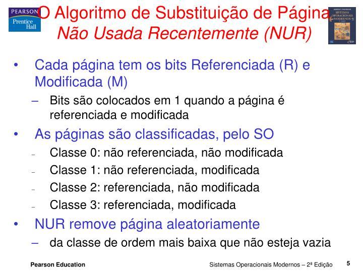 O Algoritmo de Substituição de Página