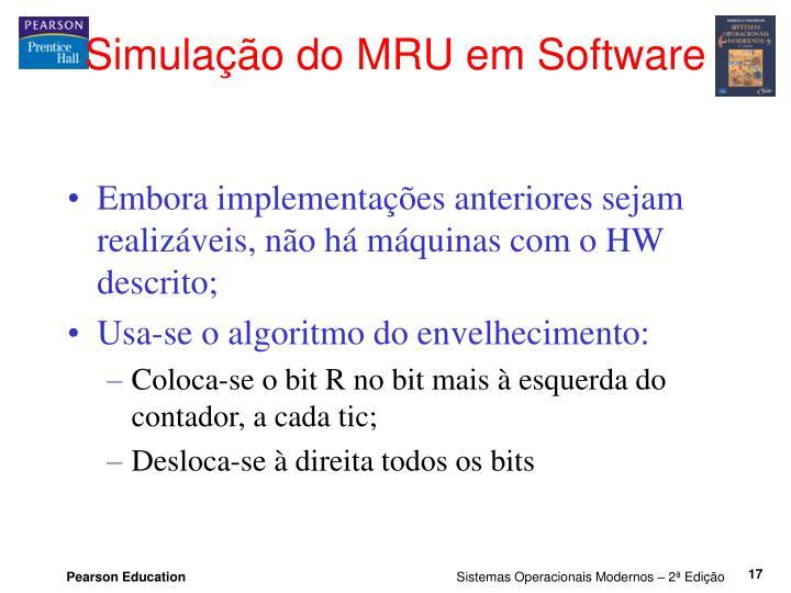 Simulação do MRU em Software