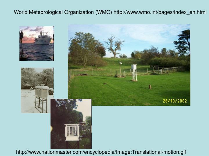 World Meteorological Organization (WMO) http://www.wmo.int/pages/index_en.html