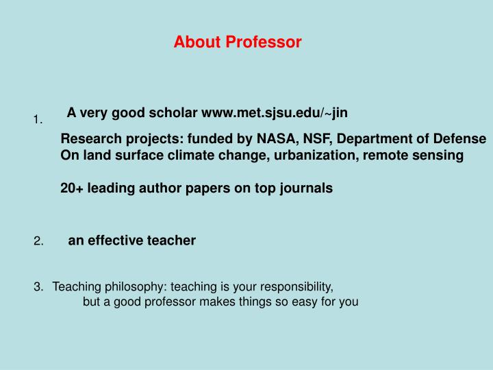 About Professor