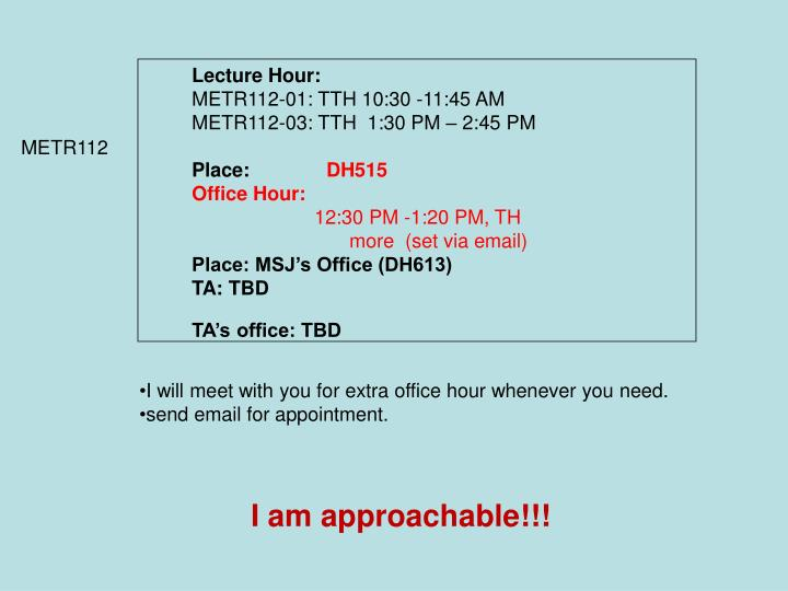Lecture Hour:
