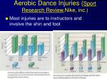 aerobic dance injuries sport research review nike inc