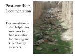 post conflict documentation1