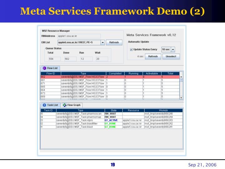 Meta Services Framework Demo (2)