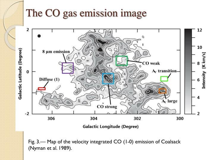 The CO gas emission image