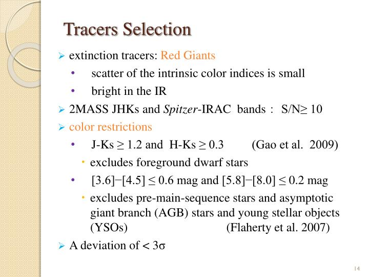 Tracers Selection
