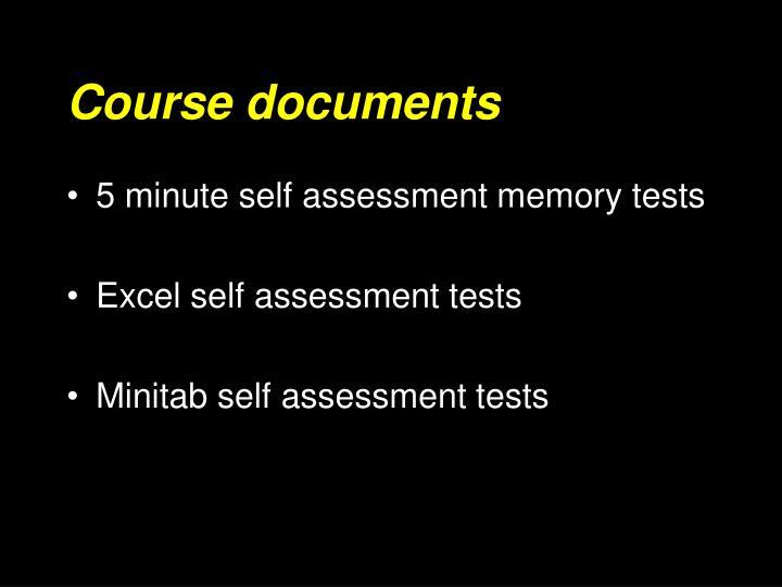Course documents