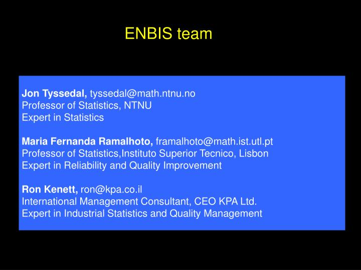 ENBIS team