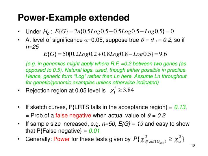 Power-Example extended