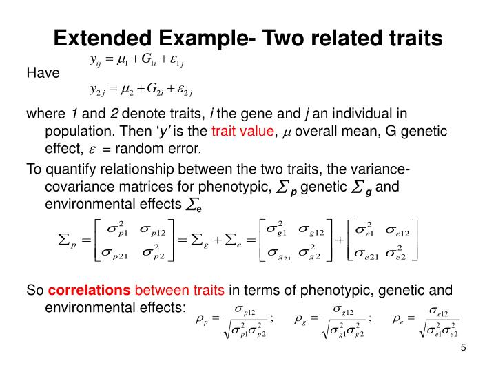 Extended Example- Two related traits