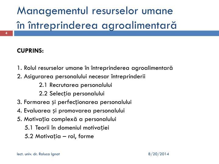 Managementul