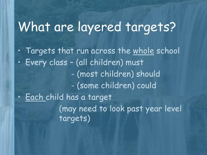 What are layered targets?