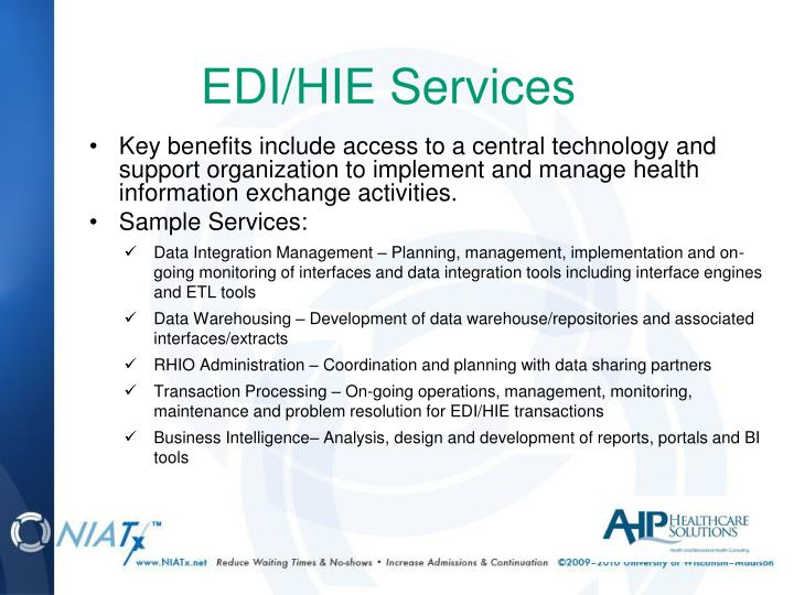 EDI/HIE Services