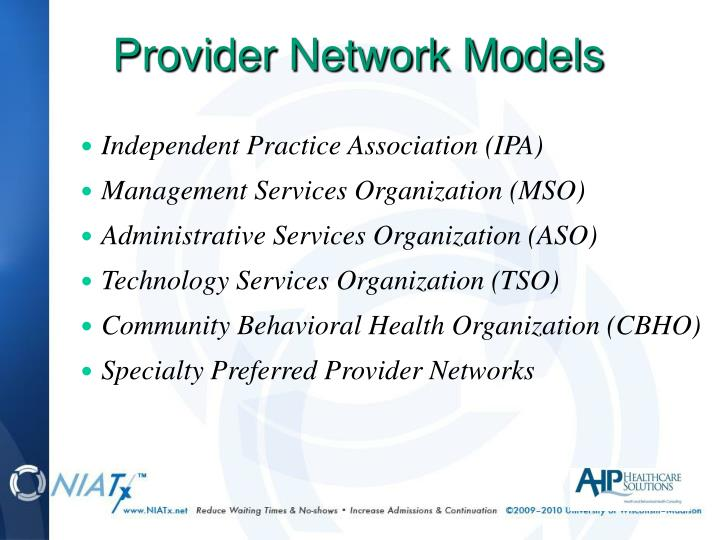 Provider Network Models