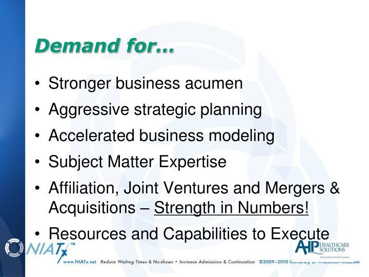 Stronger business acumen