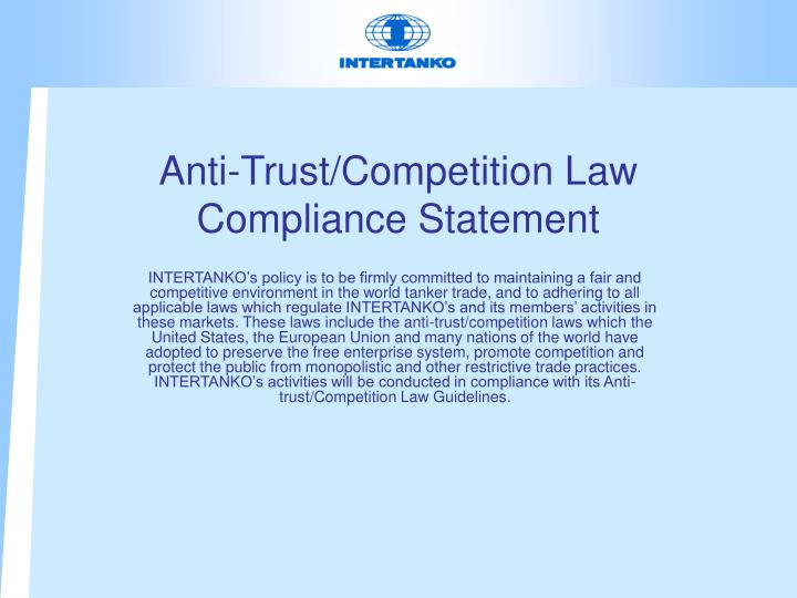 Anti-Trust/Competition Law Compliance Statement