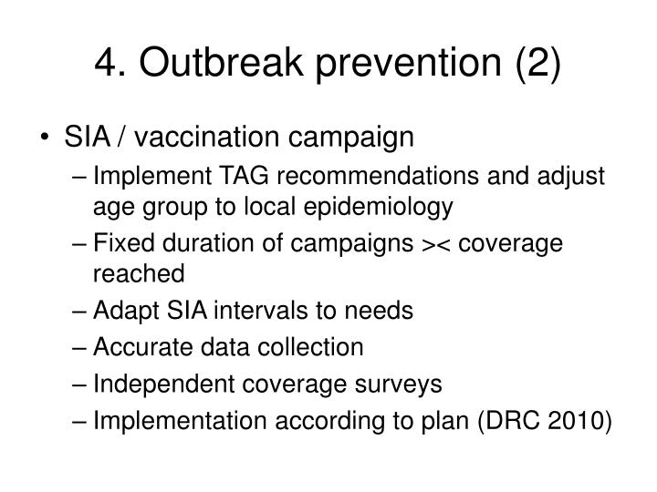 4. Outbreak prevention (2)