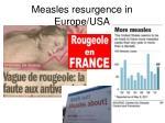 measles resurgence in europe usa