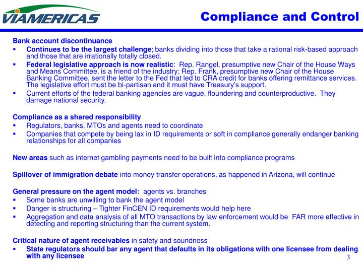 Compliance and Control