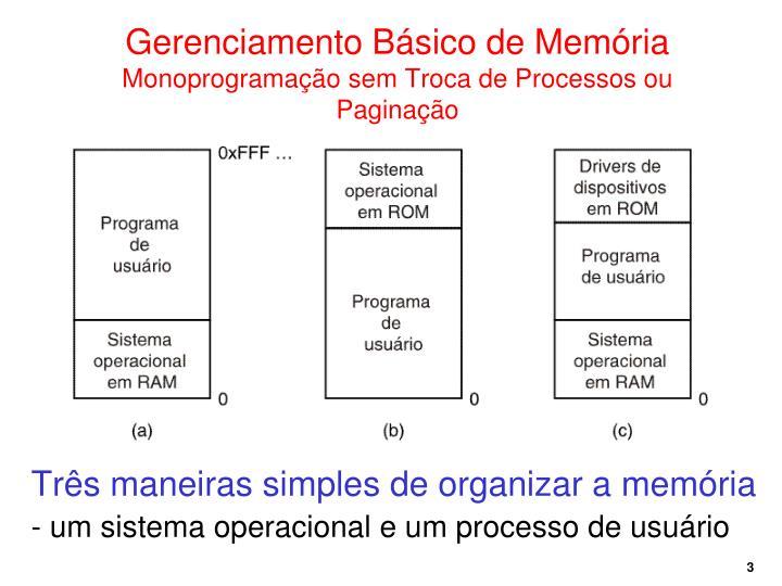 Gerenciamento Básico de Memória