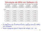 simula o do mru em software 2