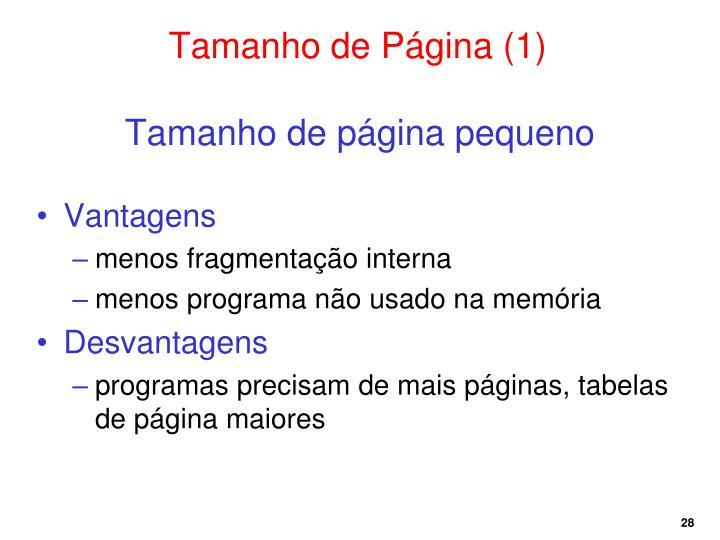 Tamanho de Página (1)