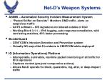 net d s weapon systems