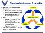 standardization and evaluation