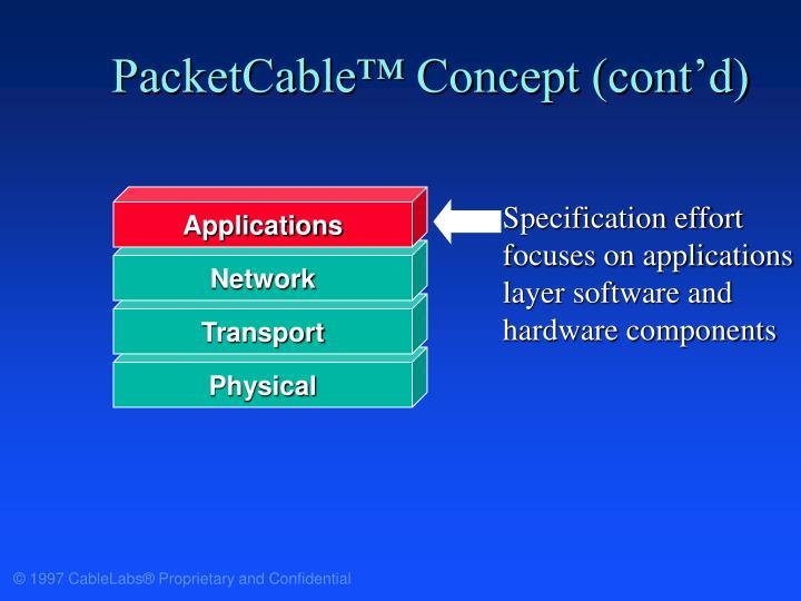 PacketCable™ Concept (cont'd)
