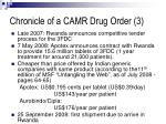 chronicle of a camr drug order 3
