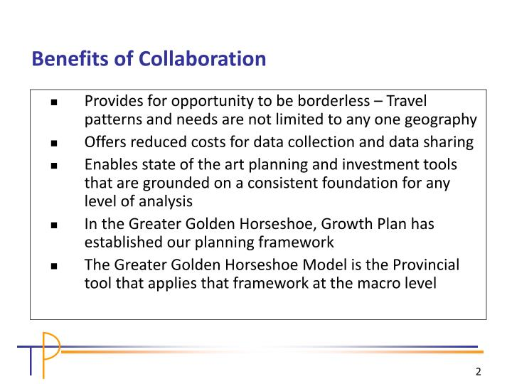 Provides for opportunity to be borderless – Travel patterns and needs are not limited to any one geography