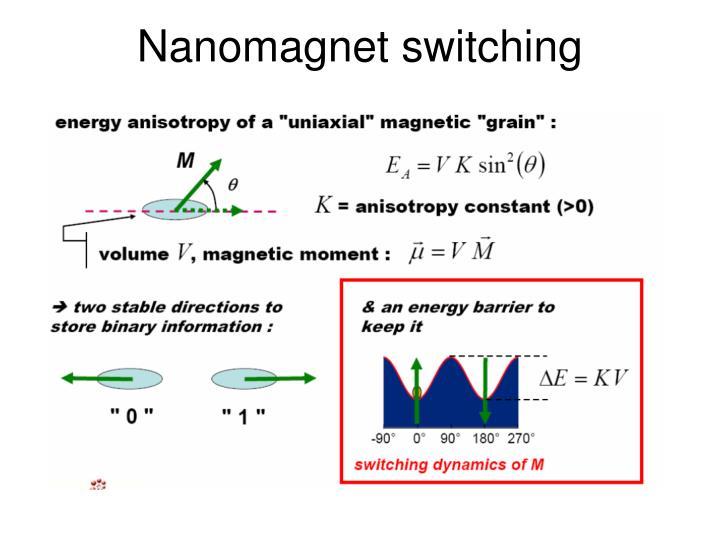 Nanomagnet switching