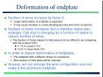 deformation of endplate