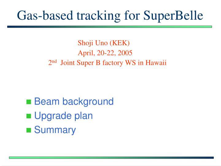Gas-based tracking for SuperBelle