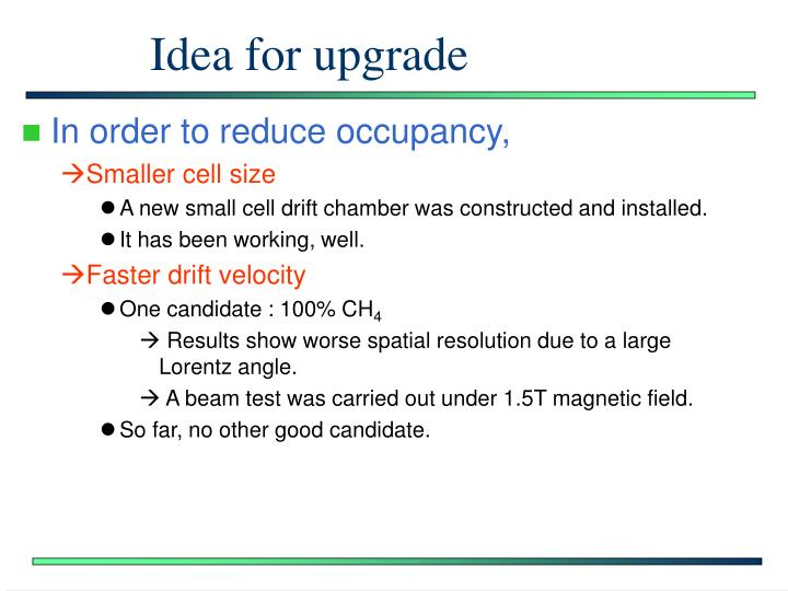 Idea for upgrade