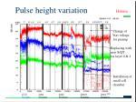 pulse height variation