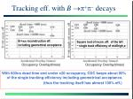 tracking eff with b p p decays